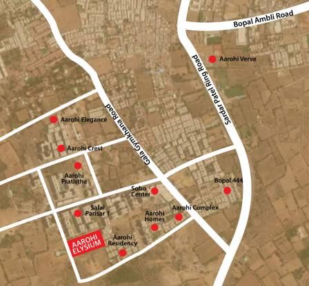 Siddhi Aarohi Elysium Location Plan