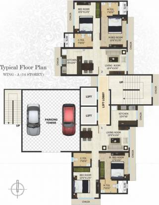 Adinath Saanvi Heights Cluster Plan