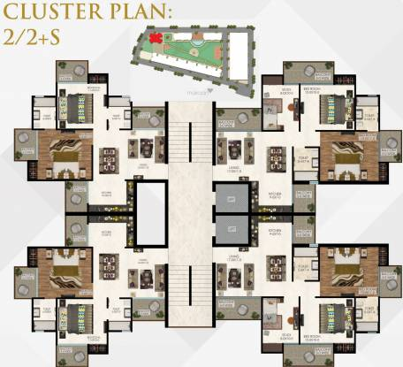 The Antriksh The Residentia Cluster Plan