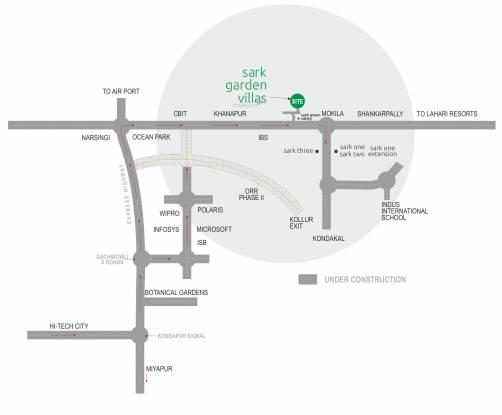 Sark Garden Villas Location Plan