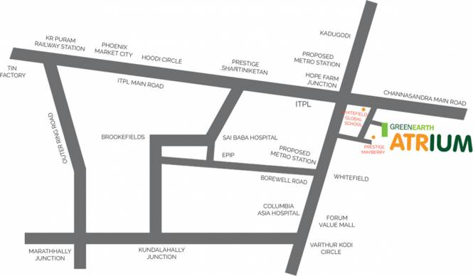 Green Atrium Location Plan