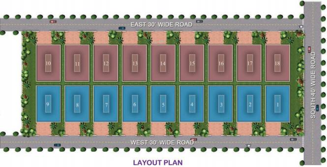 TMR Blossoms Layout Plan