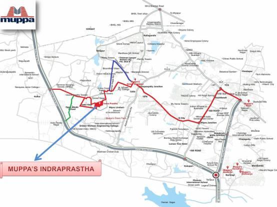 Muppa Indraprastha Location Plan