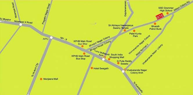 Prem Prem Sarovar Location Plan