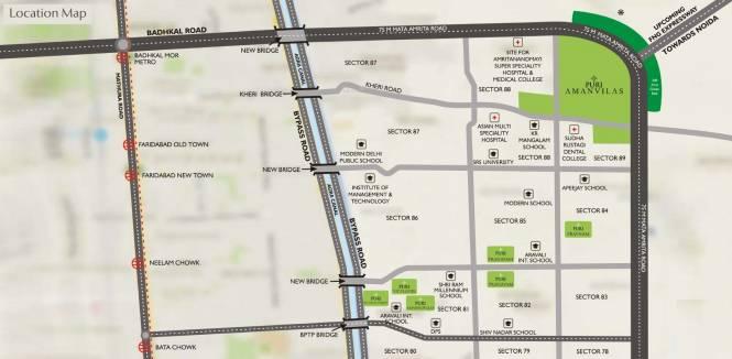 Puri Amanvilas Plots Location Plan