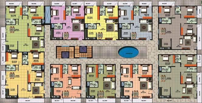 Sattva Shubham Cluster Plan