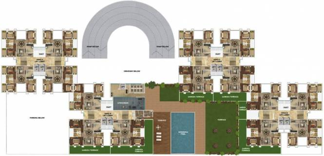 Amar Serenity Cluster Plan