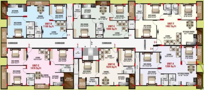 Golden Opera White House Cluster Plan