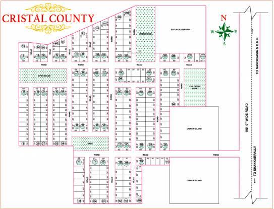 Bhashyam Cristal County Layout Plan