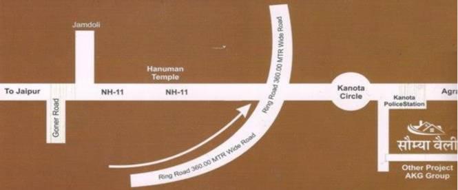 Brijasha Saumya Valley Location Plan