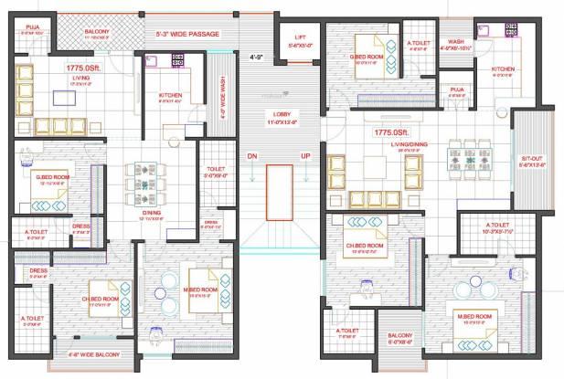 Aryamitra Aryamitra Ferndale Cluster Plan