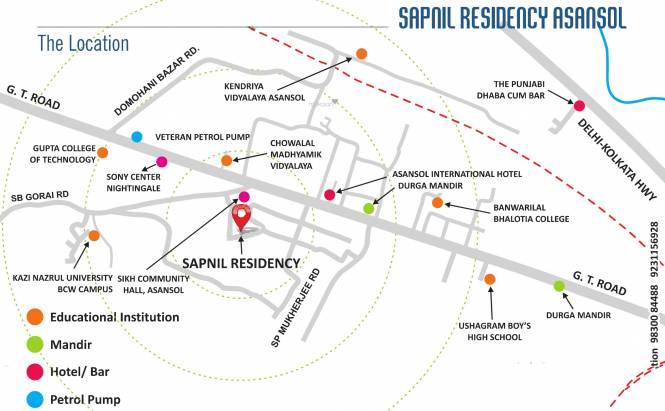 Sapnil Sapnil Residency Location Plan