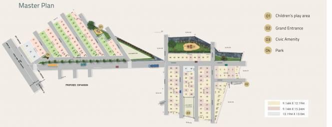 VS MSK Paradise Layout Plan