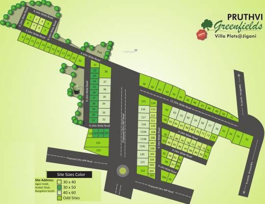 Aashrithaa Pruthvi Greenfields Layout Plan