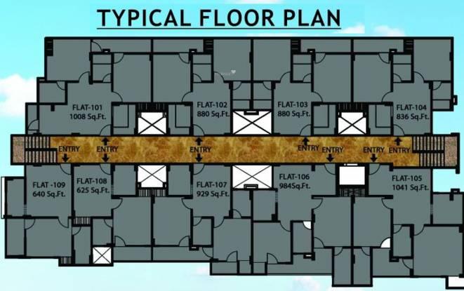 Jai Shree Balaji Infra Sukhdham Residency Cluster Plan