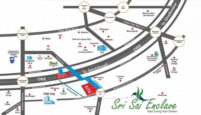 SRK Sri Sai Enclave Location Plan