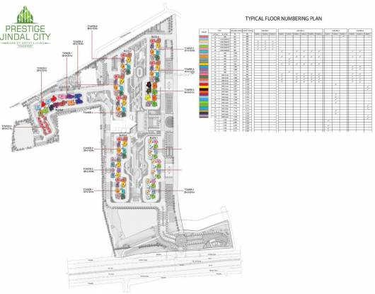 Prestige Jindal City Site Plan