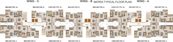 Salarpuria Sattva Park Cubix Cluster Plan