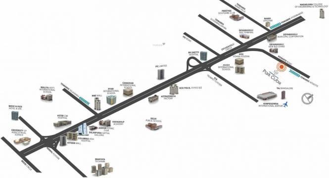 Salarpuria Sattva Park Cubix Location Plan