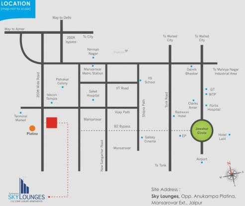 Anukampa Sky Lounges Location Plan