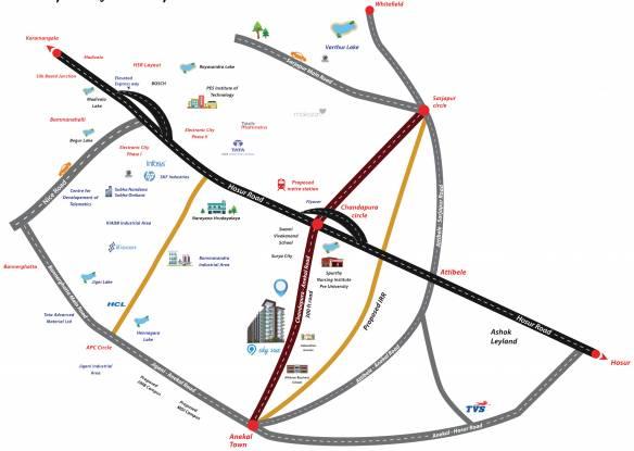 Subha Essence Location Plan
