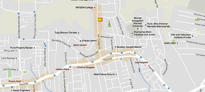 Gokhale Rahulkunj Location Plan
