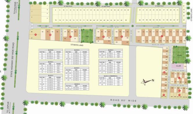 NR Murli Villas Layout Plan
