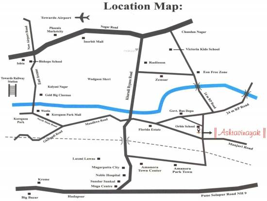 Aarya Ashtavinayak Location Plan