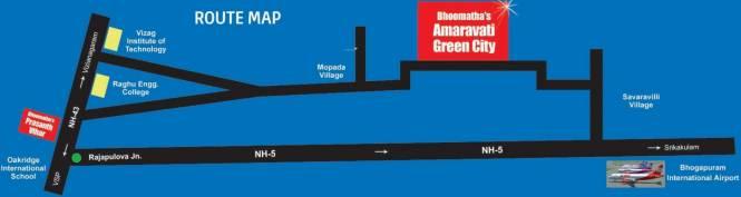 Bhoomatha Amaravati Green City Location Plan