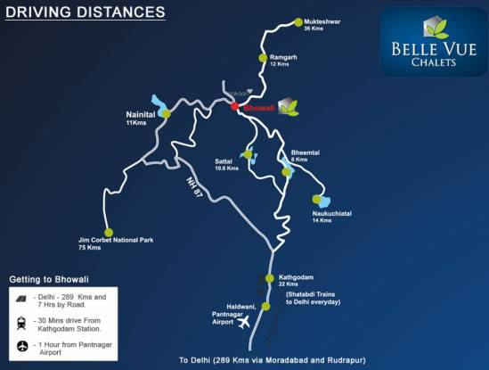 Tranquille Belle Vue Chalets Location Plan