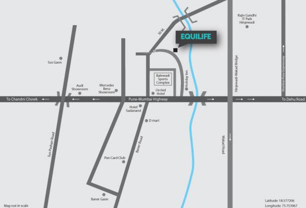 Pristine Equilife Location Plan