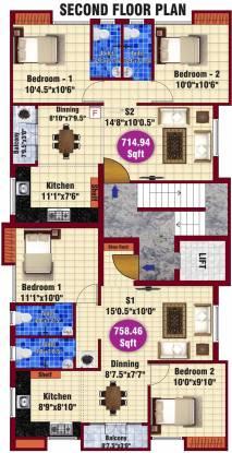 jkb sai sankara cluster plan - Jkb Homes Floor Plans