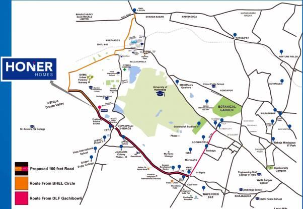 Honer Vivantis Location Plan