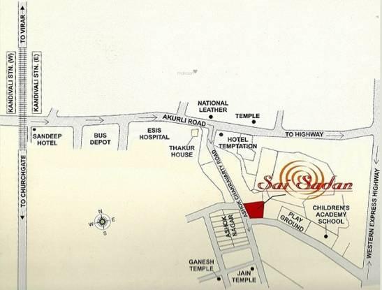 Akshay Sai Sadan Location Plan