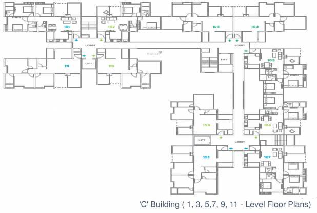 Abhinav Pebbles Urbania Cluster Plan