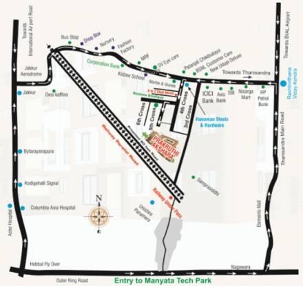 Prakruthi Akshara Location Plan