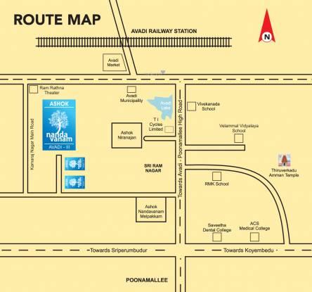 Ashok Avadi Location Plan