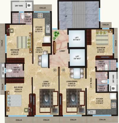 Heritage Shakuntala Mahal Cluster Plan