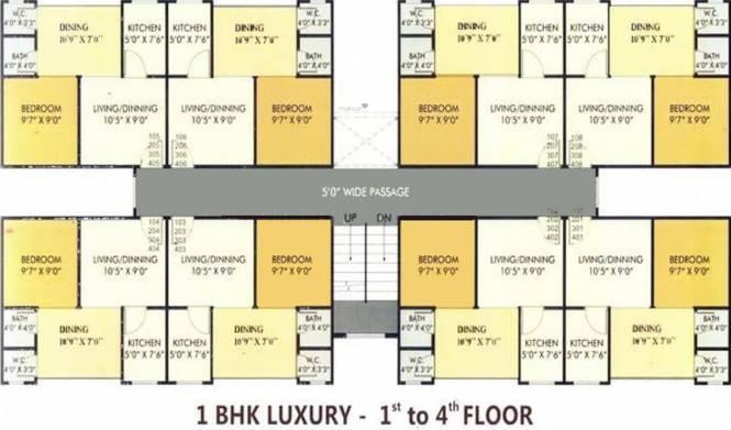 Kolkata Ira Paradise Apartment Cluster Plan