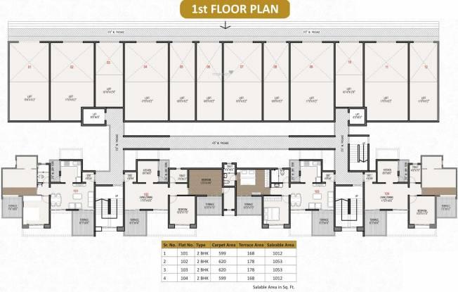 Shubh Residency Cluster Plan