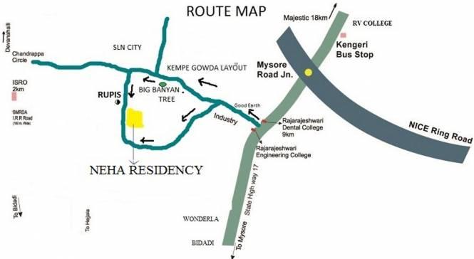 Mathrushree Neha Residency Location Plan