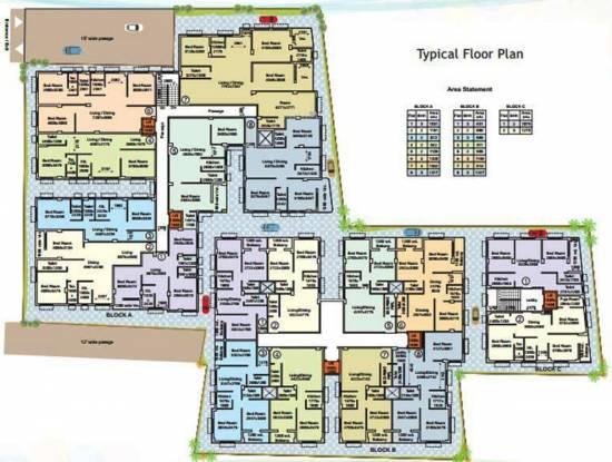 Royal Royal Residency Cluster Plan