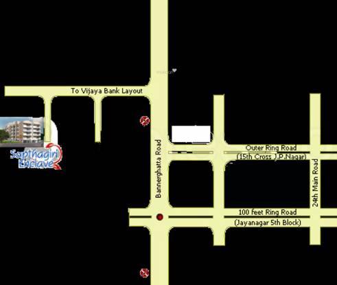 Sapthagiri Enclave Location Plan