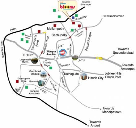 Praneeth Pranav Blooms Location Plan