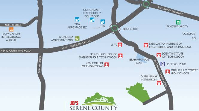JB Serene County Location Plan