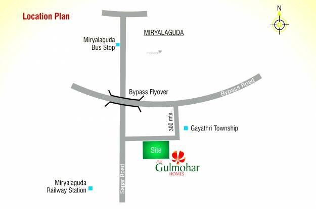 Modi AVR Gulmohar Homes Location Plan