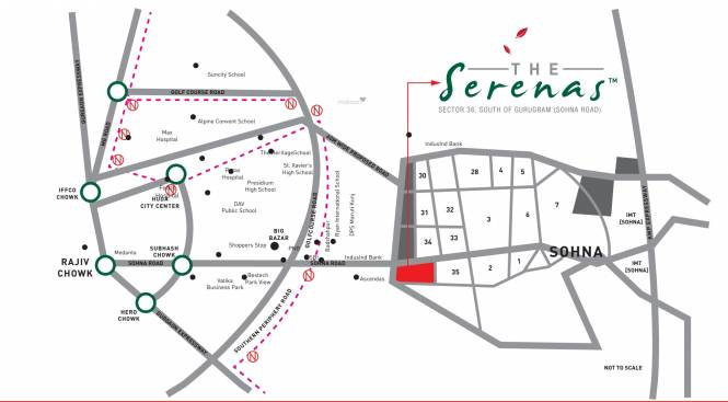 Signature The Serenas Location Plan