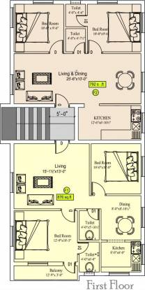 Sekaran Studio 6 Apartment Cluster Plan