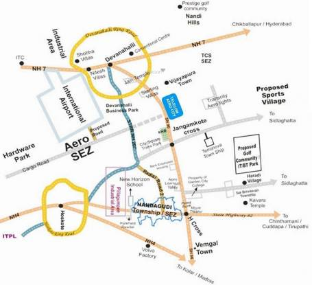 Telecom Aero City Location Plan