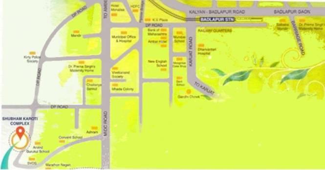 Shubham Karoti Complex Location Plan
